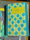carnet jaune et bleu